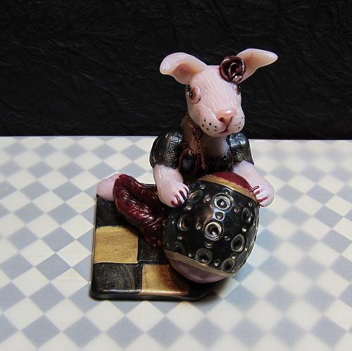 Gothic Rabbit Poylmer Sculpt