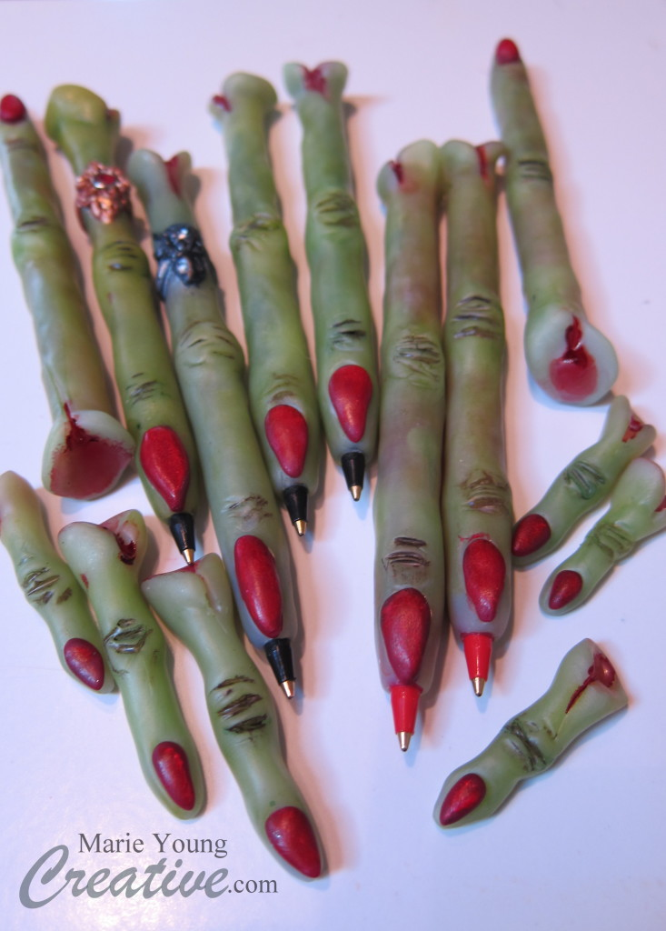 in progress the Marie Young Creative 2013 witch finger collection