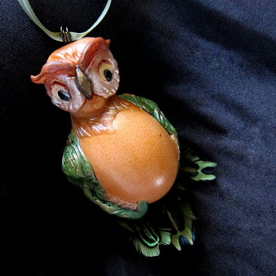 pullet egg owl by Marie Young Creative