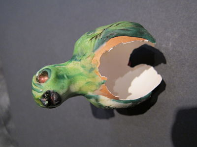 zombie bird broken egg