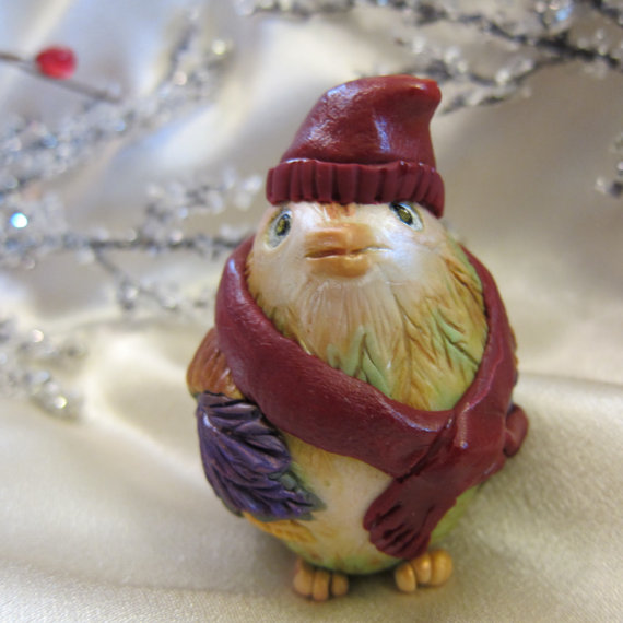 Whimsical Bird Christmas Ornament