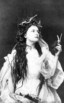 Helena (Modrzejewska) Modjeska as Ophelia