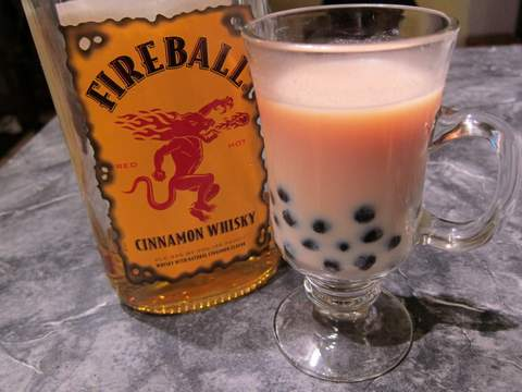cinnamon stick bubble tea