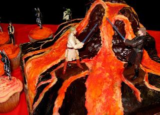 Mustafar Star Wars Cake