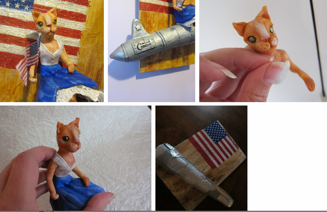"Behind the scenes of the creation of ""Patriotic Betsy"" by Marie Young Creative"