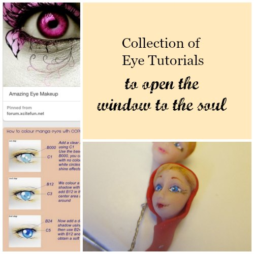 lifelike eyes tutorials collage