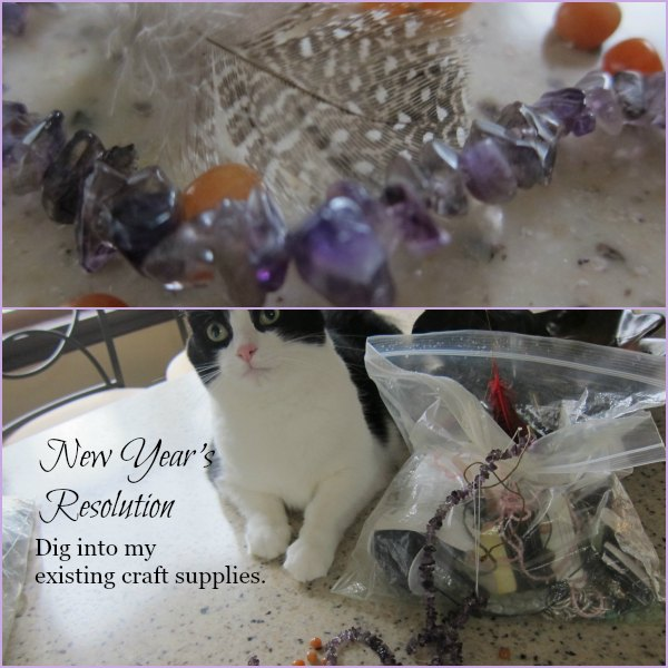 New Year's Resolution: Dig into my existing craft supplies and USE SOME!
