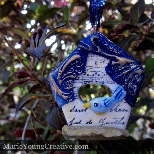 Song Bird House Ornament Giveaway Marie Young Creative